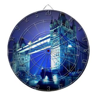 London Tower Bridge & Blue Night Dartboards