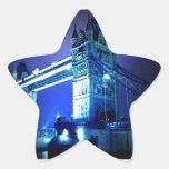 London Tower Bridge & Blue Night Star Sticker