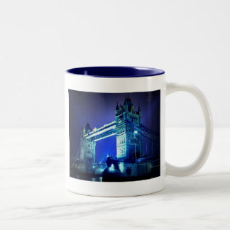 London Tower Bridge & Blue Night Two-Tone Coffee Mug