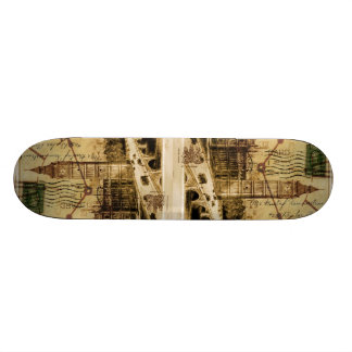 London Tower bridge clocktower big ben Skateboard