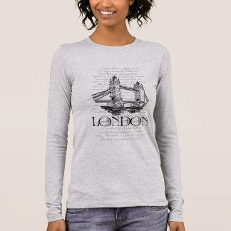 """London - Tower Bridge Collage"" Typography T-Shirt"