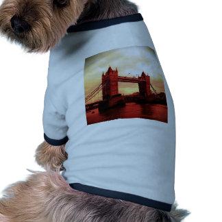 London Tower Bridge Pet Tshirt