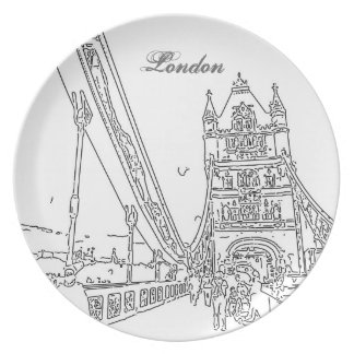 London tower bridge Plate