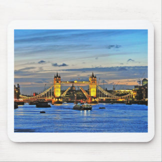 london tower bridge raised mouse pad