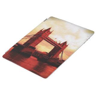 london tower bridge red iPad cover