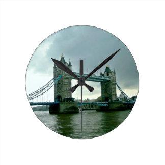 London Tower Bridge Round Clock