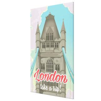 London Tower Bridge Travel poster Canvas Print