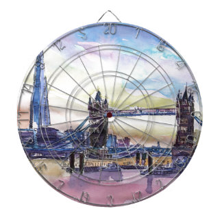 London Tower Bridge with The Shard at dusk Dart Boards