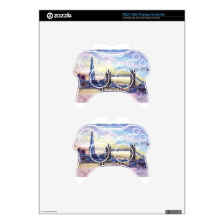 London Tower Bridge with The Shard at dusk Xbox 360 Controller Skins