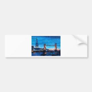London Tower Bridge with The Shard Car Bumper Sticker