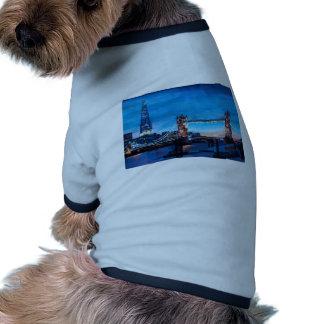 London Tower Bridge with The Shard Pet T Shirt