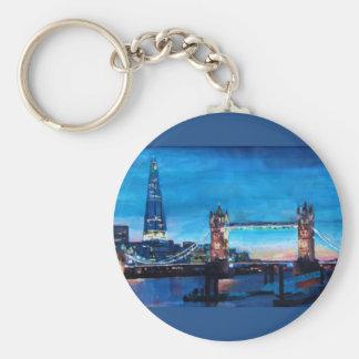 London Tower Bridge with The Shard Keychain