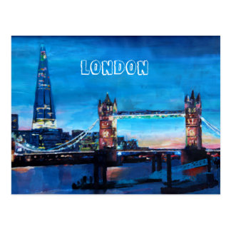 London Tower Bridge with The Shard Postcard