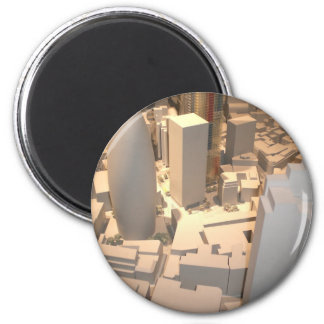 London Town 2 Inch Round Magnet