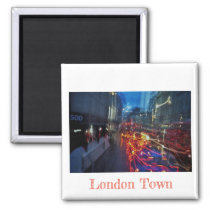 London Town Lights Fridge Magnet
