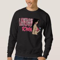 London Town Pink Floral Butterfly pattern Sweatshirt
