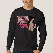 London Town Pink Floral Butterfly pattern Sweatshirt