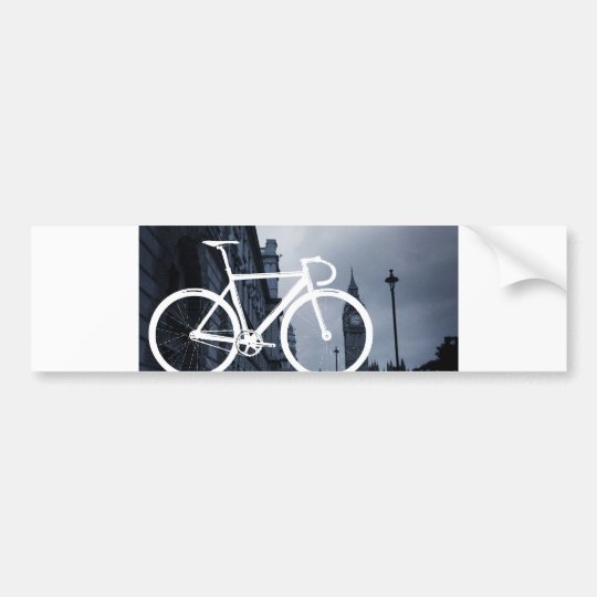 London Track Bicycle Bumper Sticker