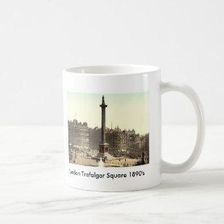 London Trafalgar Square 1890's Coffee Mugs
