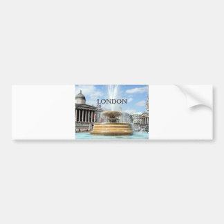 London: Trafalgar Square fountain Bumper Sticker