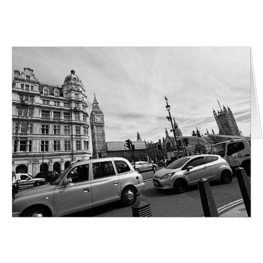 London traffic and Big Ben Card