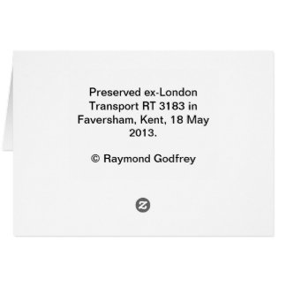 London Transport RT bus Card