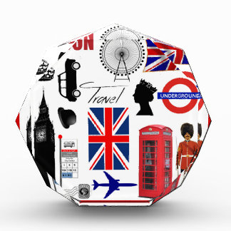 London Travel Collage Acrylic Award