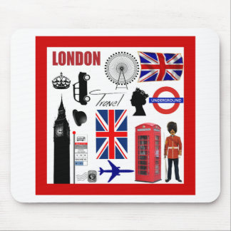 London Travel Collage Mouse Pad