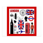 London Travel Collage Postcard