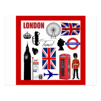 London Travel Collage Postcard
