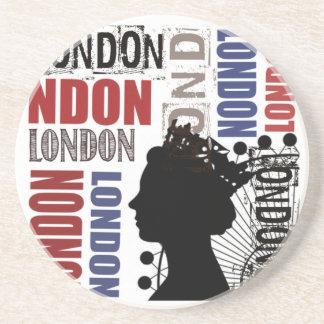 London Travel Modern Collage Drink Coaster