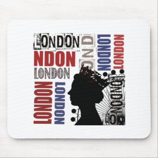 London Travel Modern Collage Mouse Pad