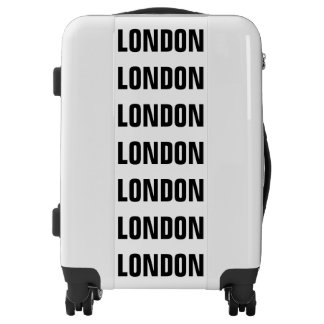 LONDON, Typo black Luggage