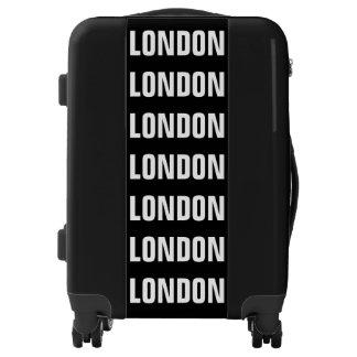 LONDON, Typo white Luggage