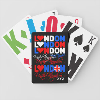 London UK custom monogram playing cards