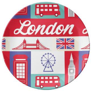 london UK England mid century art porcelain plate