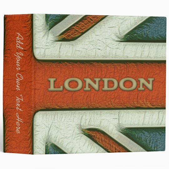 "London UK Flag 2"" Binder"