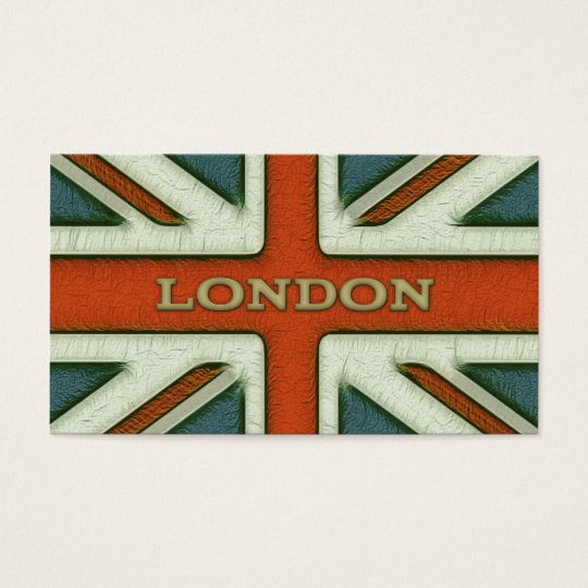London UK Flag Business Card
