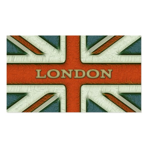 London uk flag double sided standard business cards pack for Union made business cards