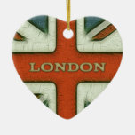 London UK Flag Christmas Ornament