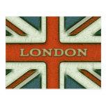 London UK Flag Post Card