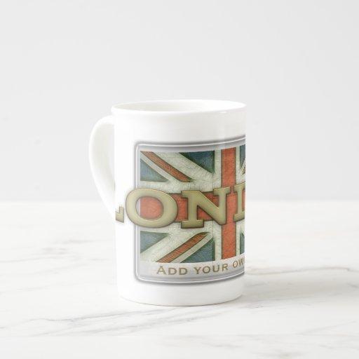 London UK Flag Bone China Mug