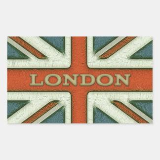 London UK Flag Rectangular Sticker