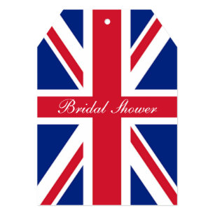 london uk flag union jack british bridal shower invitation
