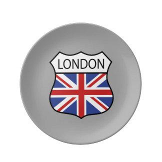 London (UK) Porcelain Plate
