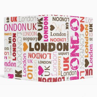 London UK typography photo album binder