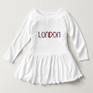 London Union Jack British Flag Typography Elegant Dress