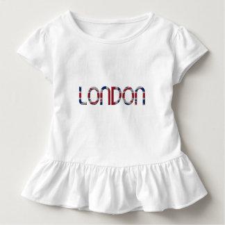 London Union Jack British Flag Typography Elegant Toddler T-shirt