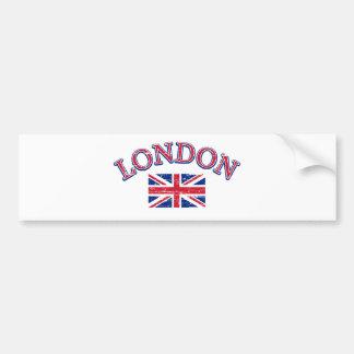 London Union Jack Design Car Bumper Sticker