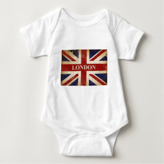 London - Union Jack - I Love London Baby Bodysuit